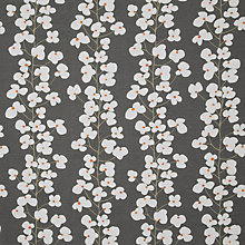 Buy John Lewis Wallflower Fabric, Steel Online at johnlewis.com