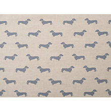 Buy Emily Bond Dachshund Fabric, Blue Online at johnlewis.com