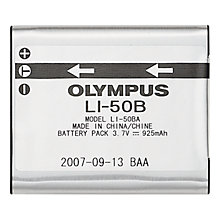 Buy Olympus LI-50B Rechargeable Li-ion Battery Online at johnlewis.com