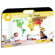 Buy Janod Magneti'stick World Map Wall Sticker Online at johnlewis.com