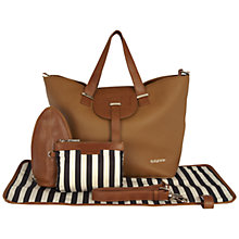 Buy BabyBeau Ellie Leather Changing Bag, Brown Online at johnlewis.com