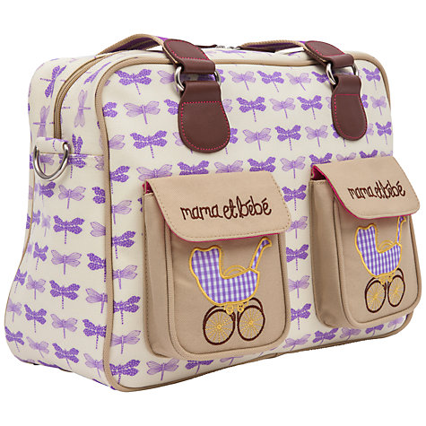Buy Pink Lining Mama et Bebe Changing Bag, Purple Dragonflies Online at johnlewis.com