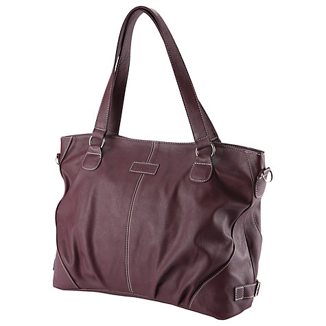 Buy Mia Tui Ella Changing Bag, Aubergine Online at johnlewis.com