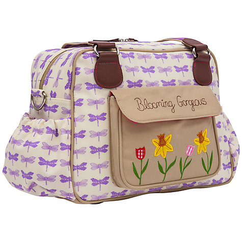 Buy Pink Lining Blooming Gorgeous Changing Bag, Purple Dragonflies Online at johnlewis.com