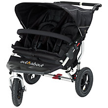 Buy Out 'N' About Nipper 3 Double Pushchair, Black Online at johnlewis.com