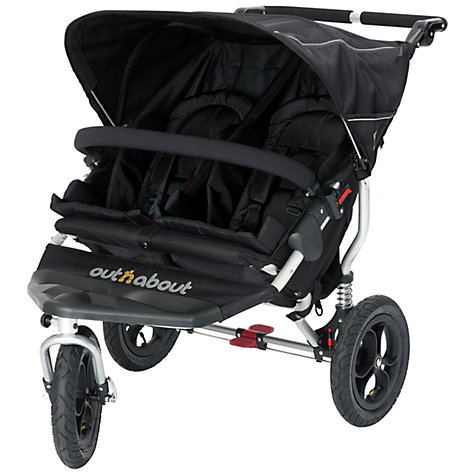 Buy Out 'N' About Nipper 360 Double Pushchair, Black Online at johnlewis.com