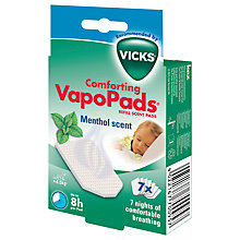 Buy Vicks Comforting Menthol Vapopads, Refill Pads Online at johnlewis.com