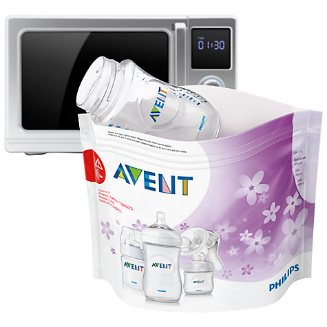 Buy Philips Avent Microwave Steriliser Bags, Pack of 5 Online at johnlewis.com