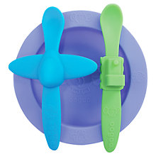 Buy Oogaa Mealtime Set, Purple Online at johnlewis.com