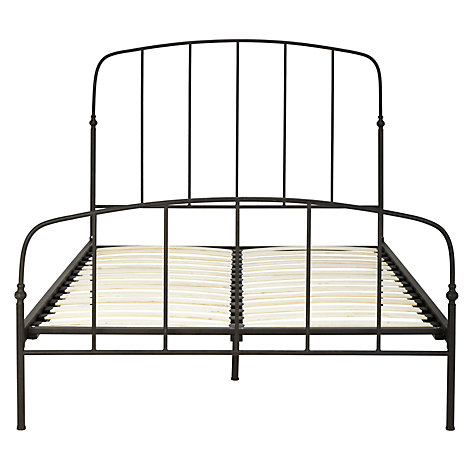 Buy John Lewis Resto Bedstead, Matt Black, Double Online at johnlewis.com
