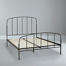 Buy John Lewis Resto Bedstead, Matt Black, Kingsize Online at johnlewis.com