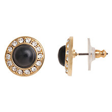 Buy Carolee Mod Moment Enamel Round Stud Earrings, Black Online at johnlewis.com