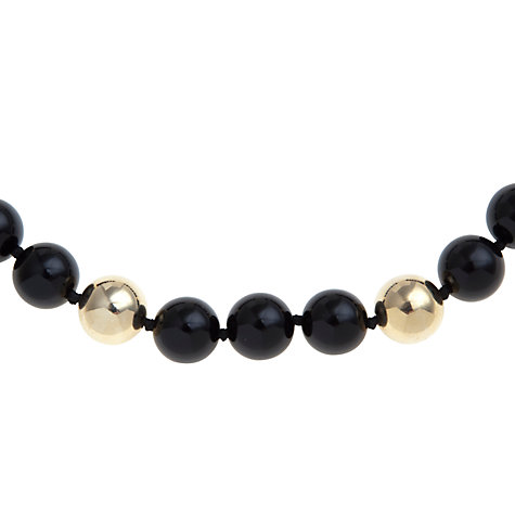 Buy Carolee Mod Moment Bead Ring Toggle Necklace, Black / Gold Online at johnlewis.com