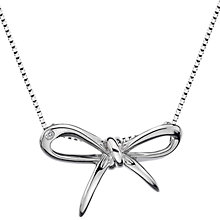 Buy Hot Diamonds Sterling Silver Ribbon Pendant Online at johnlewis.com