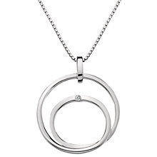 Buy Hot Diamonds Sterling Silver Forever Circle Pendant Online at johnlewis.com