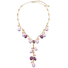 Buy Carolee High Class Colour Faceted Bead Y-Cluster Necklace, Purple Online at johnlewis.com