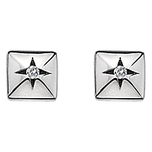 Buy Hot Diamonds Square Diamond Stud Earrings, Silver Online at johnlewis.com
