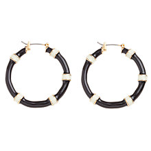 Buy Carolee Mod Moment Enamel Hoop Earrings, Black / White Online at johnlewis.com