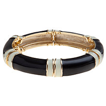 Buy Carolee Mod Moment Enamel Flexible Bangle, Black Online at johnlewis.com