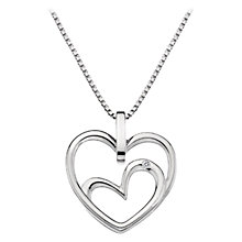 Buy Hot Diamonds Sterling Silver Forever Heart Pendant Online at johnlewis.com