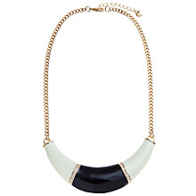 Buy Carolee Mod Moment Enamel Collar Necklace, Black / White Online at johnlewis.com