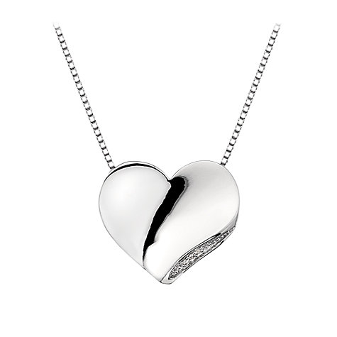 Buy Hot Diamonds Sterling Silver Sparkle Heart Pendant Online at johnlewis.com