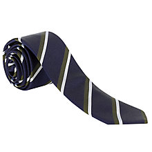 Buy Ben Sherman Tailoring College Stripe Twill Tie Online at johnlewis.com
