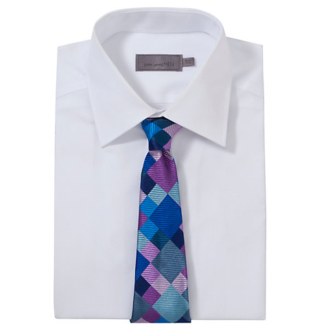 Buy Duchamp Checked Square Tie, Blue/Purple Online at johnlewis.com