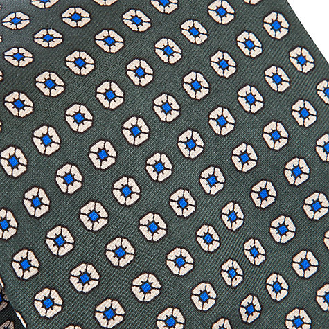 Buy Lauren by Ralph Lauren Mini Flower Print Tie, Grey Online at johnlewis.com