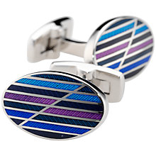 Buy Duchamp Staggered Stripe Cufflinks Online at johnlewis.com