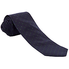 Buy John Lewis Spot Pattern Silk Tie, Navy/Green Online at johnlewis.com
