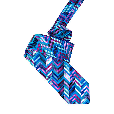 Buy Duchamp Geometric Stripe Tie Online at johnlewis.com