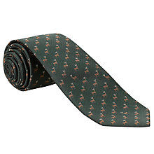 Buy John Lewis Stag Print Silk Tie Online at johnlewis.com
