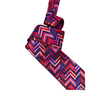Buy Duchamp Geometric Stripe Silk Tie Online at johnlewis.com