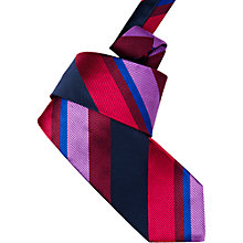 Buy Duchamp Wide Stripe Tie, Multi Online at johnlewis.com