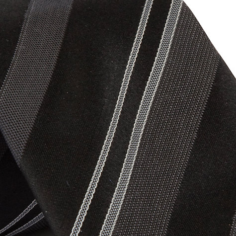 Buy CK Calvin Klein Stripe Tie, Black Online at johnlewis.com