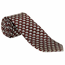 Buy John Lewis Elephant Print Silk Tie Online at johnlewis.com