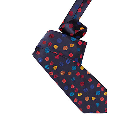 Buy Duchamp Random Dot Silk Tie, Navy Online at johnlewis.com