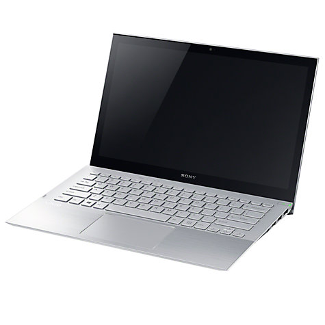 "Buy Sony Vaio Pro SVP1321A4ES Ultrabook, Intel Core i5, 4GB RAM, 128GB SSD, 13.3"" Touch Screen, Silver Online at johnlewis.com"