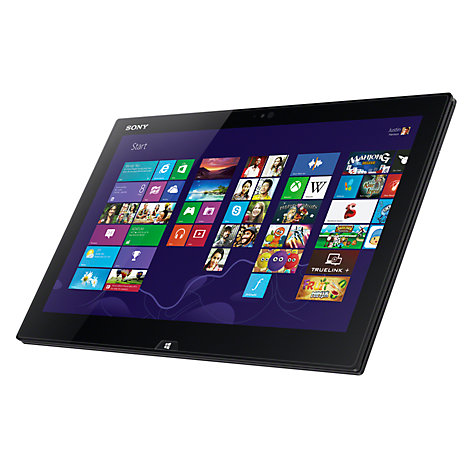"Buy Sony Vaio Duo SVD1321M2EB Convertible Ultrabook, Intel Core i5, 4GB RAM, 128GB SSD, 13.3"" Touch Screen, Black Online at johnlewis.com"