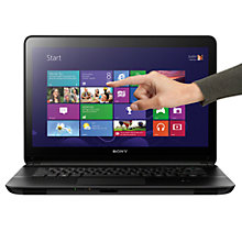 "Buy Sony Vaio Fit 14E SVF1421P2 Laptop, Intel Core i3, 4GB RAM, 500GB, 14"" Touch Screen, Black Online at johnlewis.com"