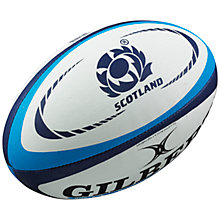 Buy Gilbert Scotland International Supporter's Rugby Ball Online at johnlewis.com