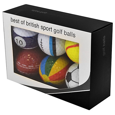 Buy Longridge Best of British Sport Golf Balls, Pack of 6 Online at johnlewis.com