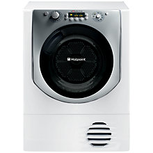 Buy Hotpoint Aqualtis AQC9BF7E1 Condenser Tumble Dryer, 9kg Load, B Energy Rating, White Online at johnlewis.com