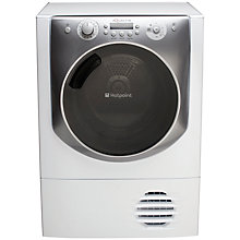 Buy Hotpoint Aqualtis AQC94F7E1M Heat Pump Condenser Tumble Dryer, 9kg Load, A+ Energy Rating, White Online at johnlewis.com