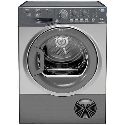 Buy Hotpoint TCEL87B6G Condenser Tumble Dryer, 8kg Load, B Energy Rating, Graphite Online at johnlewis.com