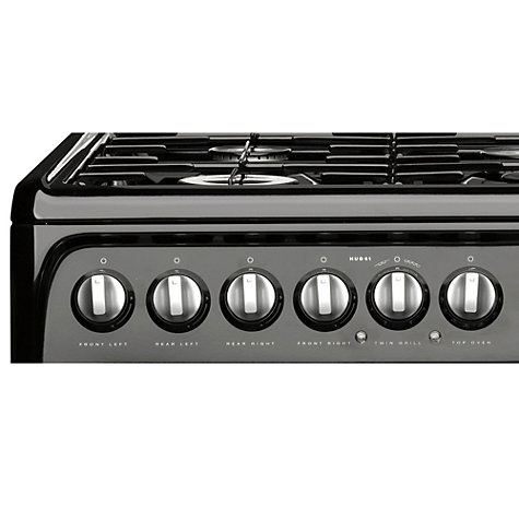 Buy Hotpoint HUD61KS Dual Fuel Cooker, Black Online at johnlewis.com