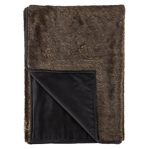 Buy Helene Berman Faux Fur Marsciano Throw, Pewter Online at johnlewis.com