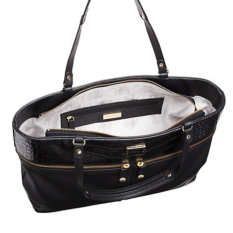 Buy Modalu Dashwood Leather Shopper Handbag, Black Online at johnlewis.com