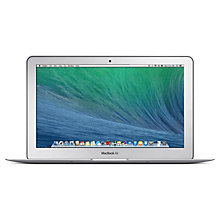 "Buy New Apple MacBook Air, MD711B/A, Intel Core i5, 1.3GHz, 128GB SSD, 4GB RAM, 11.6"" Online at johnlewis.com"